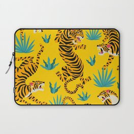 Yellow Tiger Tropical Pattern Laptop Sleeve