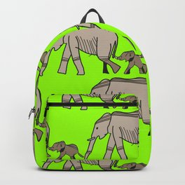 The elephants walk in two by two. Hurray! Hurray! Backpack