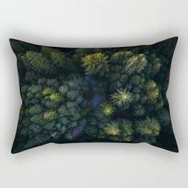 Hidden road Rectangular Pillow