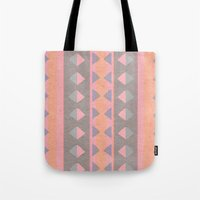 montana Tote Bags featuring Montana Weave by The Velvet Owl Design Studio