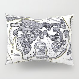 Neverland Illustration  Pillow Sham