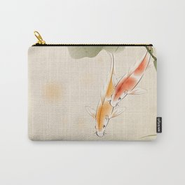 Koi fishes in lotus pond Carry-All Pouch