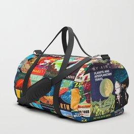 Mosaic - retro space travel Duffle Bag