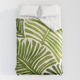 Summer Fern / Simple Modern Watercolor Comforters