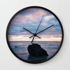 Sunset at El Pescador Beach Wall Clock