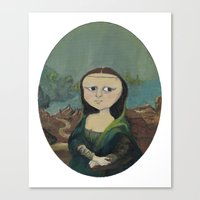 mona lisa Canvas Prints featuring Mona Lisa by Chris Talbot-Heindl