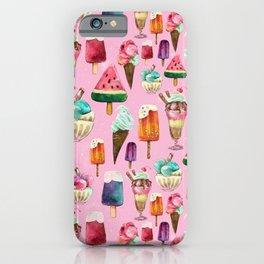 ice-cream pattern iPhone Case