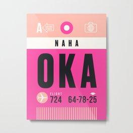 Baggage Tag A - OKA Naha Okinawa Japan Metal Print