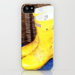 Wicker & Wellies iPhone Case