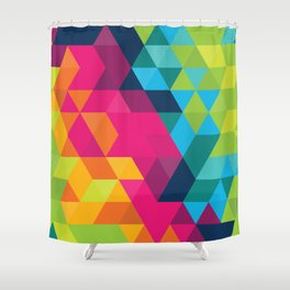 Fragmented Shower Curtain