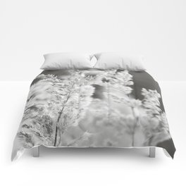 Black white reed Comforters