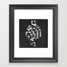 isyhyrrt gryy Framed Art Print