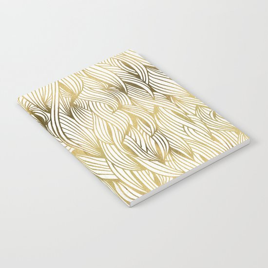 Golden Waves Notebook