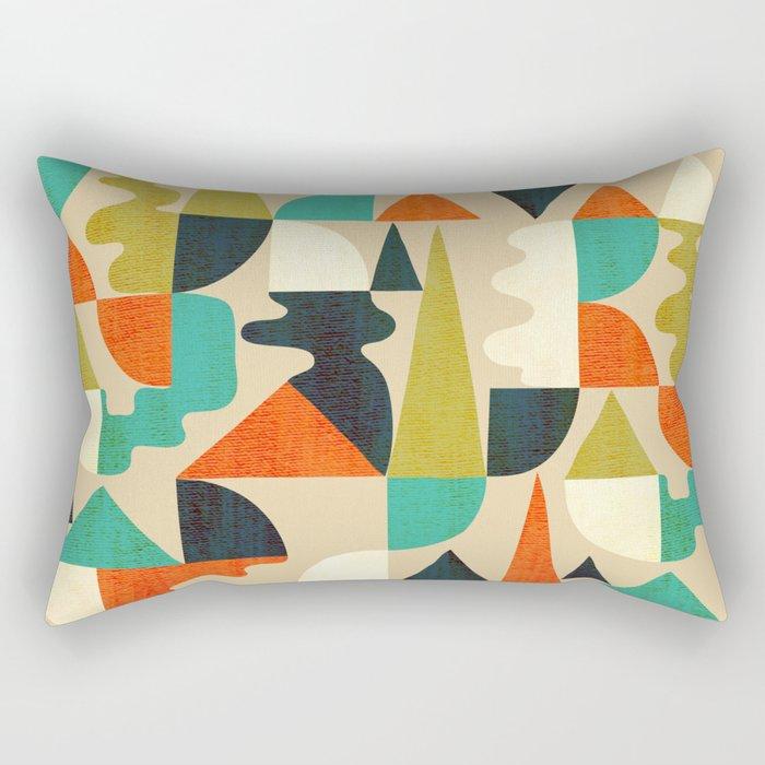 Mountains Hills and Rivers Rectangular Pillow