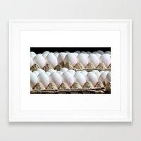 eggs Framed Art Prints featuring EGGS by Avigur