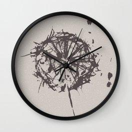 Dancing Dandelion Wall Clock