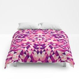 Triangle mandala 1 Comforters