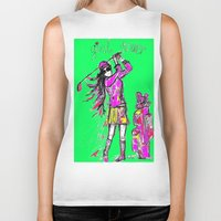 girl power Biker Tanks featuring Girl Power by sladja