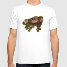 A Forest Alive White Mens Fitted Tee MEDIUM