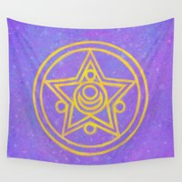 sailor moon Wall Tapestries featuring Sailor Moon by BiteMeFox