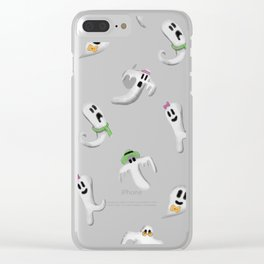 Ghost Family Clear iPhone Case