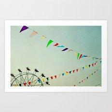 summer festival Art Print