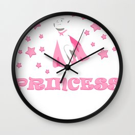 Princess Girl Gift Crown Daughter Funny Wall Clock