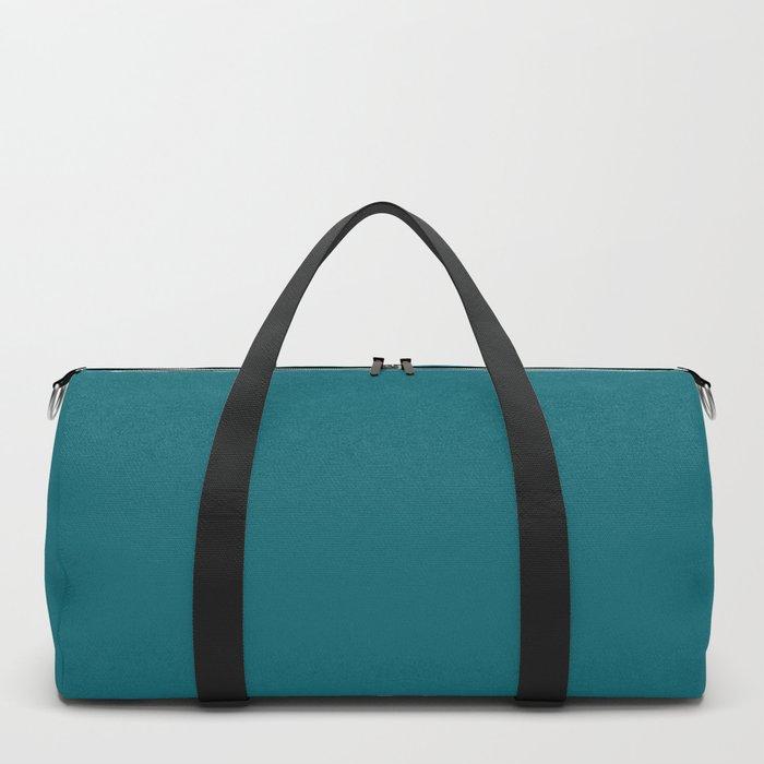 Clear Day Ocean Blue Solid Colour Palette Matte Duffle Bag
