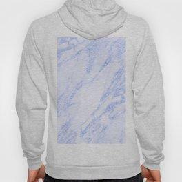 Blue Marble - Shimmery Glittery Cornflower Sky Blue Marble Metallic Hoody