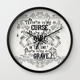 Beautiful Creatures - Grave - White Wall Clock