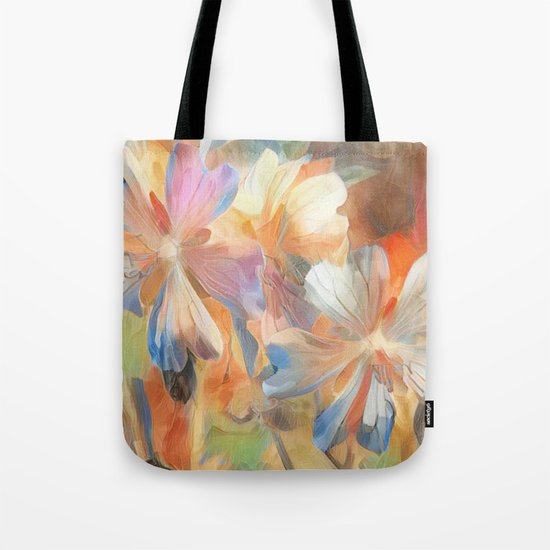 Abstract Wild Geraiums Tote Bag