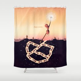 Less is More Shower Curtain