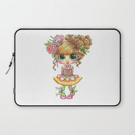 Sherri Baldy My Besties Sugar Plum Treats Big Eyed Art Laptop Sleeve