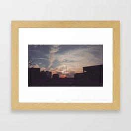 Carrefour Laval at Dusk Framed Art Print