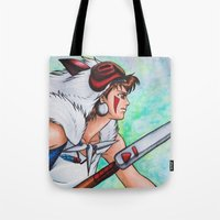 mononoke Tote Bags featuring Mononoke by Kimberly Castello