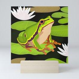 Lilypads Bullfrog Mini Art Print