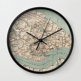 Map of Venice - 1886 Wall Clock