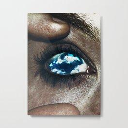 Ojos color cielo Metal Print