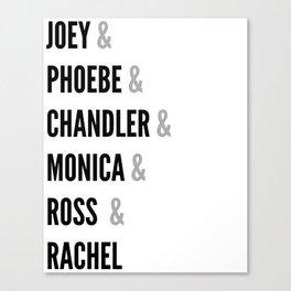 Friends names Canvas Print