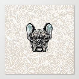 French Bulldog Smilling Canvas Print