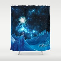 thorin Shower Curtains featuring Frozen - Elsa by Thorin