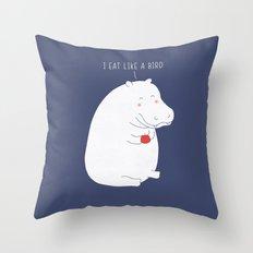 humble hippo  :) Throw Pillow