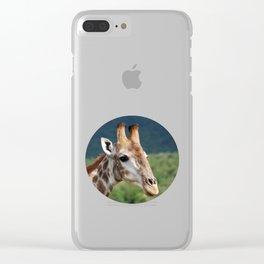 Giraffe Profile Clear iPhone Case