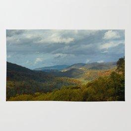 Great Smoky Mountains Late Autumn Vista Rug