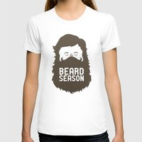 hair T-shirts featuring Beard Season by Chase Kunz
