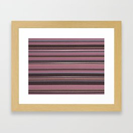 Pink and Brown Striped Pattern Framed Art Print