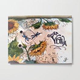Late Summer Sunflower Metal Print