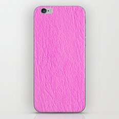 Leather Texture (Pink) iPhone & iPod Skin