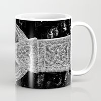 celtic Mugs featuring Celtic Cross by David Pyatt