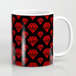 Diamond Pattern - Red and Black Coffee Mug